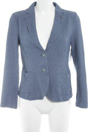 Bianca Kurz-Blazer stahlblau-weiß Punktemuster Casual-Look