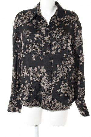 Bianca Long Sleeve Blouse black-bronze-colored flower pattern casual look