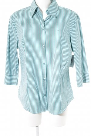 Bianca Long Sleeve Shirt cadet blue-white striped pattern casual look