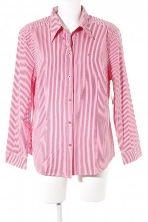Bianca Long Sleeve Shirt brick red-white striped pattern casual look