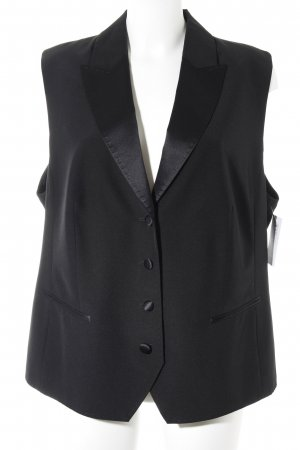 Bianca Leather Vest black business style