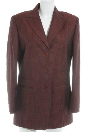 Bianca Blazer long rouge carmin-noir motif rayé style d'affaires