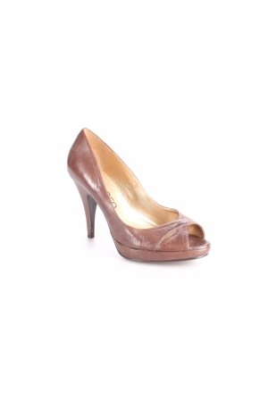 Bianca Peep Toe Pumps dark brown elegant