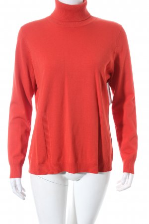 Bianca Turtleneck Sweater red minimalist style