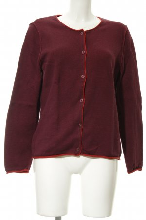 Bianca Strickjacke bordeauxrot-rot meliert Casual-Look