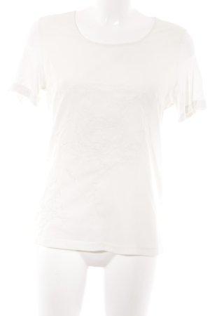 Bianca Camiseta beige claro estampado floral estilo romántico