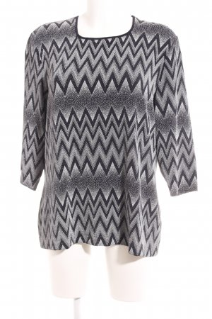 Bianca Woven Twin Set dark blue-white zigzag pattern glittery