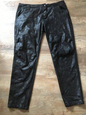 Bianco Pantalón de cuero negro