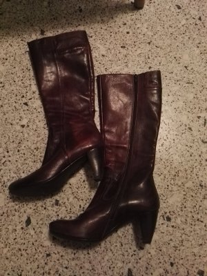 Bianco High Boots dark brown leather