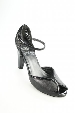 Bianco Peeptoe Pumps schwarz Party-Look