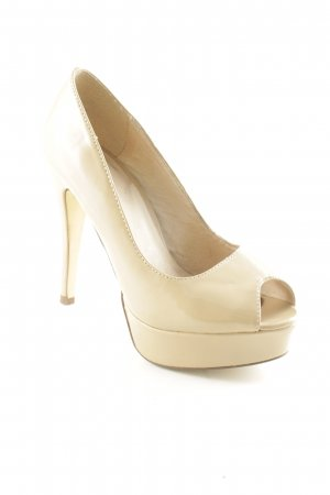 Bianco Plateau-Pumps beige Lack-Optik