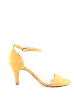 Bianco Riemchen-Sandaletten blassgelb Casual-Look