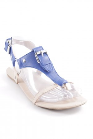 Bianco Toe-Post sandals nude-blue casual look