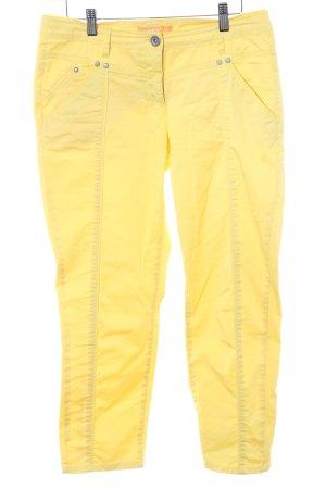 Biba Pantalone a 7/8 giallo stile casual