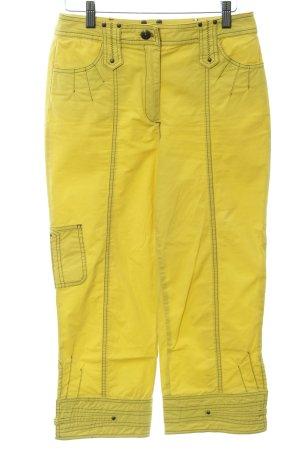 Biba Pantalone a 7/8 giallo lime stile casual