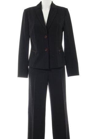 Biba Suit Trouser black striped pattern business style