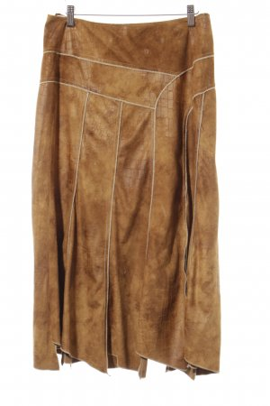 Biba Asymmetry Skirt camel-cream casual look