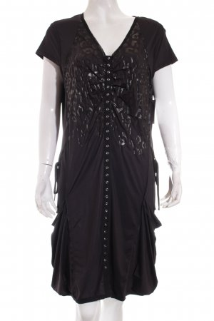 Biba Robe ballon noir motif léopard style extravagant