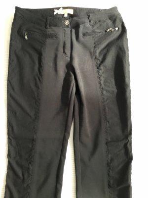 BiBa Basic Hose schwarz mit stretchigem Einsatz