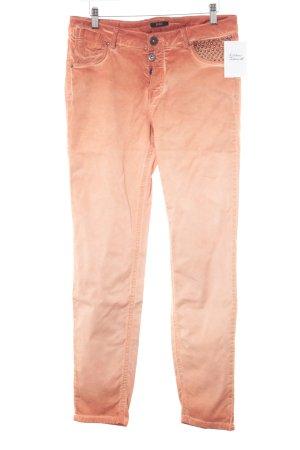 Biba Jeans da motociclista arancione stile stravagante