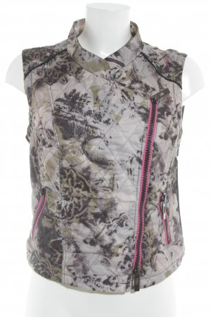 Biba Biker Vest abstract pattern biker look