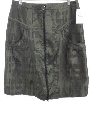 Biba Pencil Skirt khaki-black abstract pattern skater style