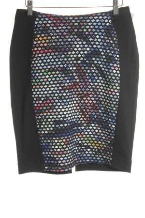 Biba Pencil Skirt black mixed pattern business style