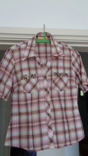 Biba Colletto camicia rosa pallido-marrone chiaro Cotone