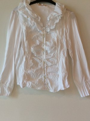 Biba Long Sleeve Blouse white-gold-colored