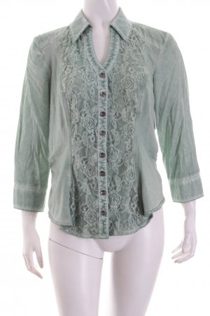 Biba Bluse mint Materialmix-Look