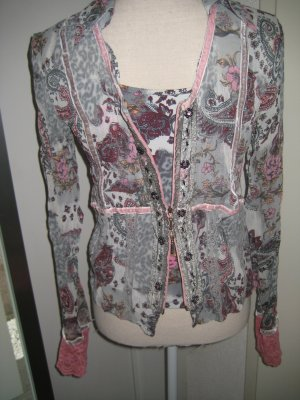 Biba Transparent Blouse multicolored