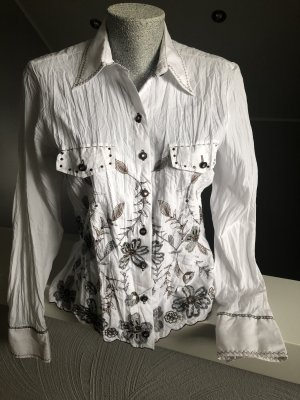 Biba Long Sleeve Blouse white