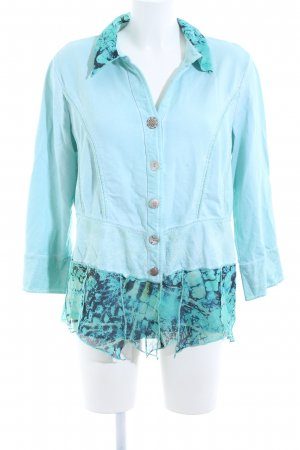 Biba Blouse Jacket turquoise casual look