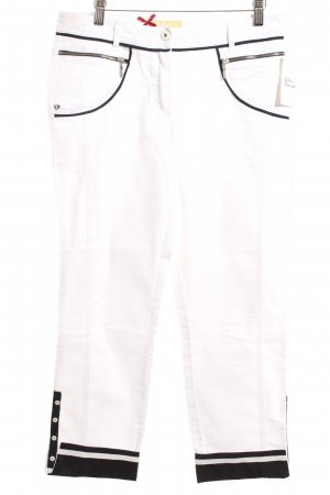 Biba Capris white-dark blue casual look