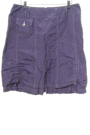 Biba Falda estilo cargo lila look con capas