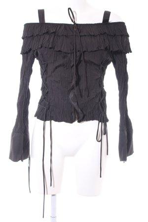 Biba Carmen blouse zwart Zigeuner stijl