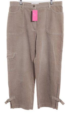 Biba Pantalone di velluto a coste beige stile casual