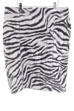 Biba Crash Skirt white-black animal pattern business style