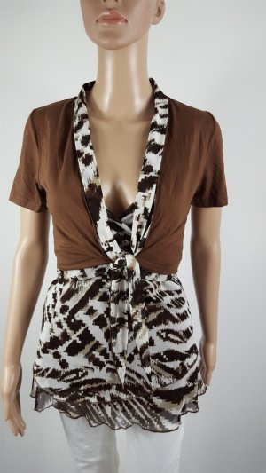Biba Woven Twin Set brown-white