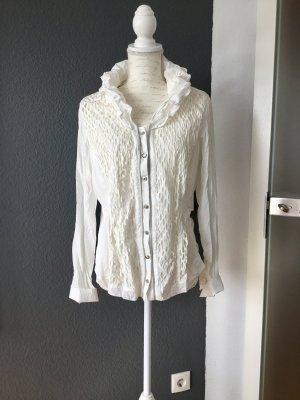 BiBa elegante Bluse mit interessantem Kragen Größe 42/44