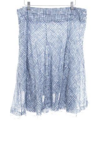 Biba Faltenrock weiß-graublau Karomuster Casual-Look