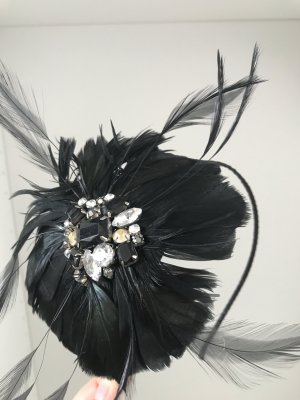 Biba Headdress black-silver-colored