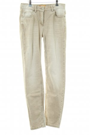 Biba Pantalón de cinco bolsillos color oro look casual