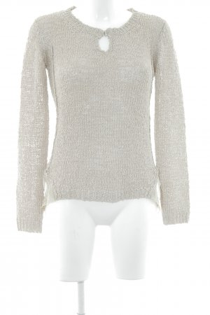 Biba Coarse Knitted Sweater camel-cream casual look