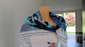 Biba großes Tuch Blautöne