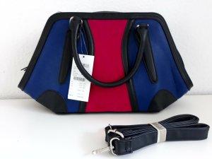 BIBA-Handtasche Bau/pink/schwarz Neu mit Etikett
