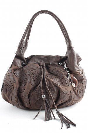 Biba Handbag dark brown floral pattern casual look