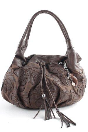 Biba Borsetta marrone scuro motivo floreale stile casual