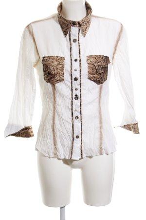 Biba Blusa-camisa estampado de animales estilo extravagante