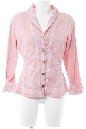 Biba Blusa-camisa rosa claro estilo clásico